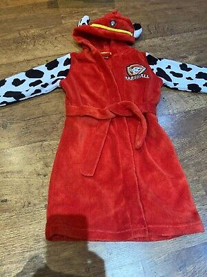 Boys Or Girls Aged 5-6 Years PAW PATROL marshall Hooded Dressing Gown
