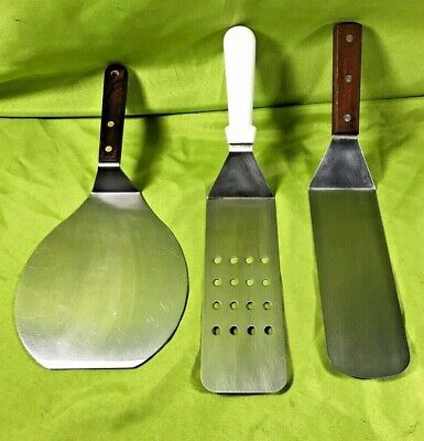 Stainless Steel Spatulas Turners Commercial Grade Grill Spatulas Lot of 3