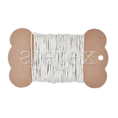 20M Waxed Cotton Cord Thong Thread DIY Necklace Crafts Jewellery 1x1mm White