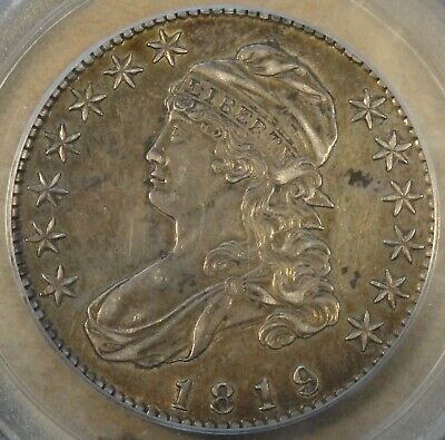 1819 Capped Bust Half Dollar 50c O-108 PCGS Certified AU50