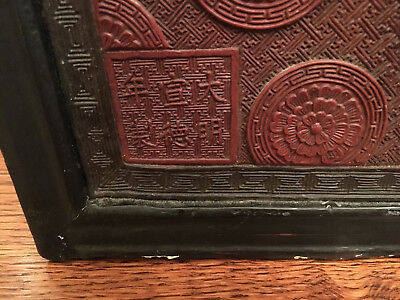 A Pair Large and Important Chinese Antique Cinnabar Lacquer Panels, Marked.