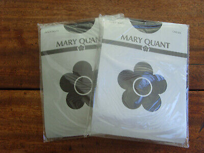 Mary Quant tights. One size. Fancy black horizontal hold. New. Made in Italy