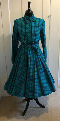 1980's Does 50's Full Circle Shirt Dress Size 14  Vintage