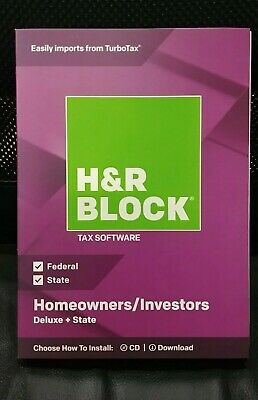H&R Block 2018 Deluxe + State Tax Software Homeowners/Investors 2018
