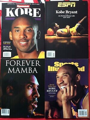 KOBE BRYANT Tribute Magazines (4) Newsweek, ESPN, Forever Mamba, Sports Ill NEW