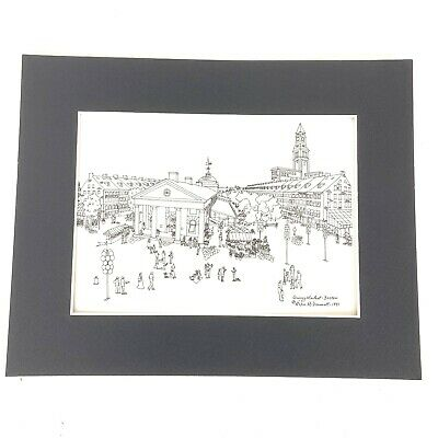 Helen McDermott Quincy Market, Boston 1991 Original Drawing 9608
