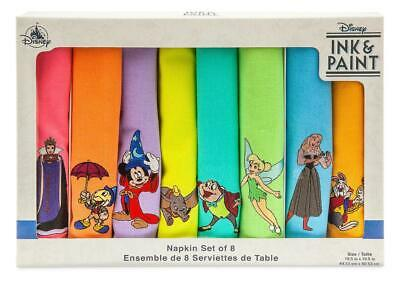 Disney Parks Ink & Paint Napkin Set of 8 New with Box