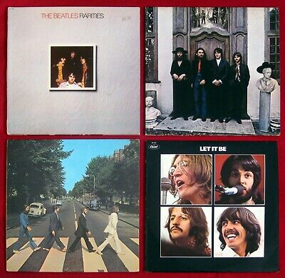 The Beatles 4-LP LOT Let It Be HEY JUDE Abbey Road RARITIES