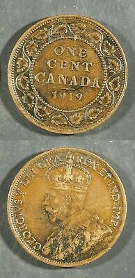 1919  Canada Large Cent  -   Solid FINE  stk#2f33