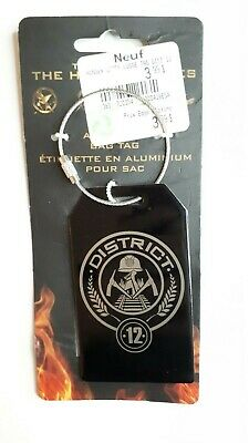 The Hunger Games metal baggage tag with steel cable aluminum bag tag District 12