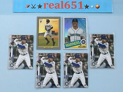 2020 Topps KYLE LEWIS Rookie Lot x6 RC Silver Pack Refractor Turkey Red Seattle
