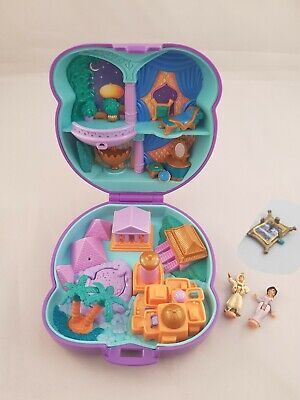 Vintage Polly Pocket Bluebird 1995 Disney Aladdin Compact Case Complete