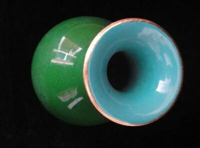 "Rare Old Chinese Diamond Green Glaze Porcelain Bottle Vase Marked ""QianLong"""