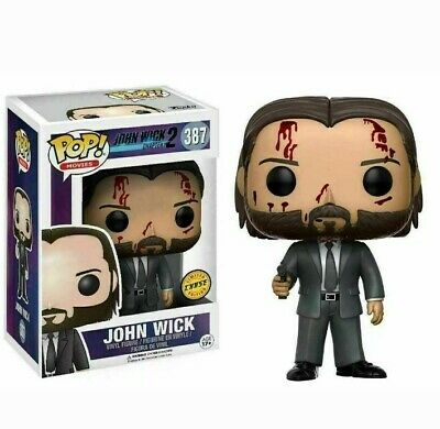 FUNKO POP! John Wick Chapter 2 #387 Bloody CHASE Limited Edition Rare