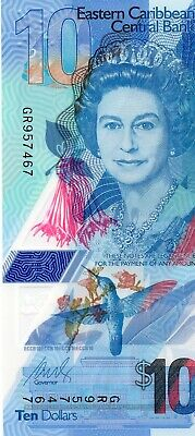 EAST CARIBBEAN STATES $10 Dollars 2019 P New UNC Polymer Banknote