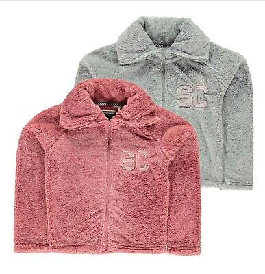 Girls SoulCal Lightweight Classic Zip Snug Jackets Sizes from 7 to 13