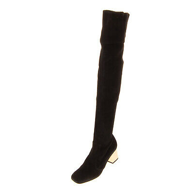 RRP€1235 DSQUARED2 Suede Leather Over Knee Boots Size 37 UK 4 US 7 Made in Italy