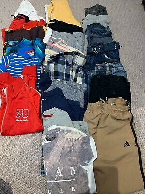 boys T-shirt Jeans Shirts Tops Trousers bundle age 8-9 22 Items