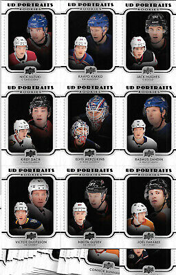 2019 19-20 Upper Deck Series 2 Ud Portraits Complete 50 Card Rc Set Kakko Hughes