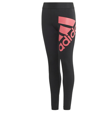 Girls Adidas Badge Of Sport Leggings Black  Age 7-14   Bnwt Rrp £20 Lowest Price