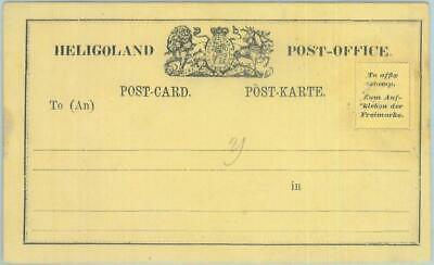 89242 - GERMANY Heligoland  - Postal History - STATIONERY Formular CARD H&G # 9
