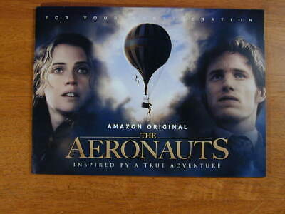 THE AERONAUTS 2019 PROMO FYC 22 pg BOOKLET AMAZON FELICITY JONES EDDIE REDMAYNE