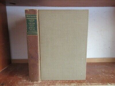 Old WORKS OR HORACE / CLASSIC LATIN SATIRES Book ODES PERSIUS ANCIENT ROMAN POEM