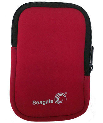 "Seagate Pouch Suits Portable 2.5"" External Hard Drive Red"