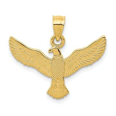 American Heroes US Navy Eagle Solid 14k Rose Gold Pendant Necklace
