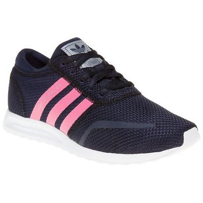 New Girls adidas Blue Los Angeles Nylon Trainers kids 11-11.5