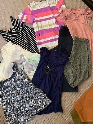 Maternity Top Bundle Approx Sz 8-10 Tops Smart Casual 9 Items