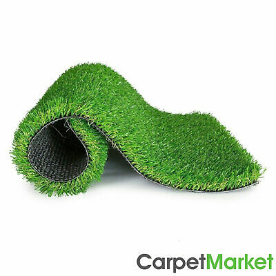 30mm Artificial Grass Realistic Quality Garden Green Lawn Fake Astro 4m x 1m