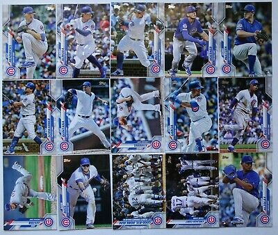 2020 Topps Series 1 Chicago Cubs Base Team Set of 15 Baseball Cards