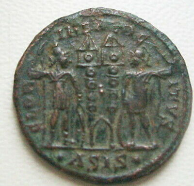 Two legionnaires Ancient Roman Coin CONSTANTIUS II Constantine the Great son