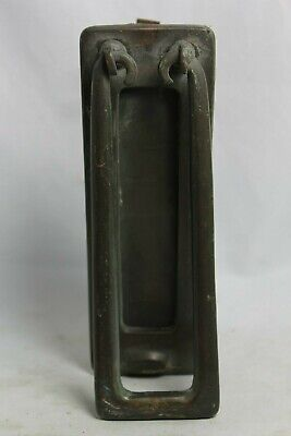 Vintage Brass Vertical Letter Box Home Front Door Knocker Art Deco Reclaimed
