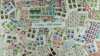 Weeda Canada Postage Lot of 1000 x 3c stamps, mostly NH, $30 Face Value, useful!