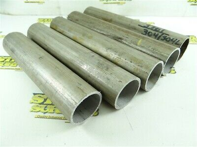 """10.5Lb 304 Stainless Steel Tubing Round Stock 1-5/8"""" Id X 1-59/64"""" Od"""