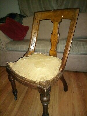 Arts & Crafts Chairs X3 Need Work And Upholstery beautiful collection only TS12