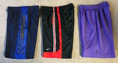 Lot 3 Men's Athletic Basketball Shorts - Under Armour, Nike, Jordan - Size Large