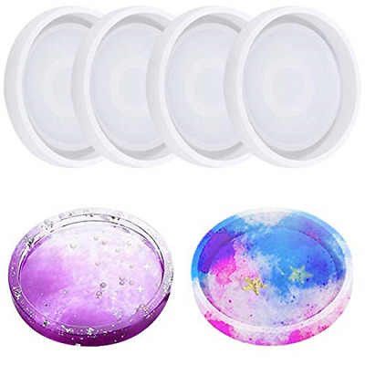 Large Agate Coaster Resin Molds 1 Pack Puzzle Silicone Mold for Resin Epoxy M8J5