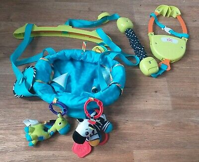 Bright Starts Door Baby Bouncer Adjustable height hanging toys extra safe clip