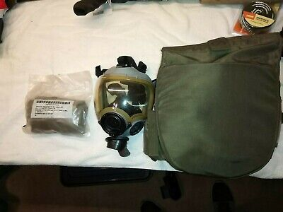 MSA Millennium Gray Full Face 40mm NATO SWAT Riot Control Gas Mask Size small