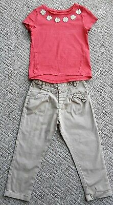 🌼🌼Girls trousers & t shirt outfit age 2-3 years VGC 🌼🌼