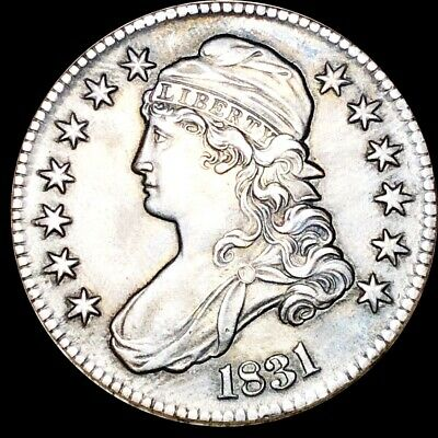 1831 Capped Bust Half Dollar CLOSELY UNCIRCULATED Philadelphia 50c Silver Coin!