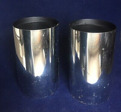 Vintage Magic Trick Apparatus Chromed U. F Grant's Chinese Rice Cans