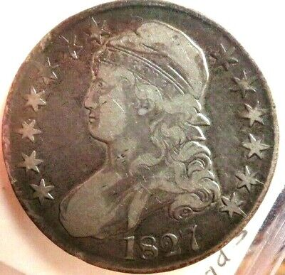 1827 Capped Bust Silver Half Dollar High Grade 50c Old US Coin