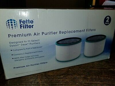 NEW! Fette Filter Premium Air Purifier Replacement Filters 2 Pack 968125-03
