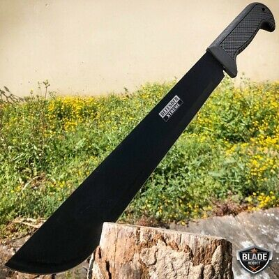 "18"" Hunting Fixed Blade Machete Knife Military Tactical Survival Ninja Sword"