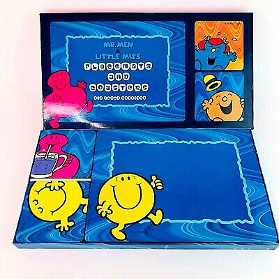 Vintage Mr Men Placemats and Coasters 6 Place Table Setting