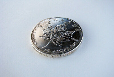 Silver Maple Leaf Coin 1 oz .9999 Canada Fine Silver Canadian Coin 2012